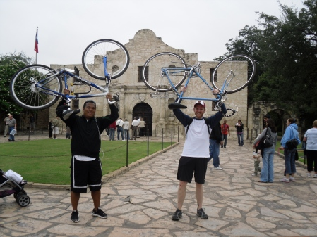 The Alamo marked our successful completion of the Mission Trail (We have the visitor stamps to prove it!)